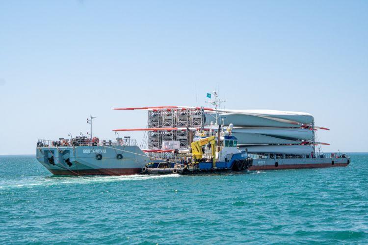 Из Турции и Германии поставлено оборудования для строительства ветропарка в Казахстане