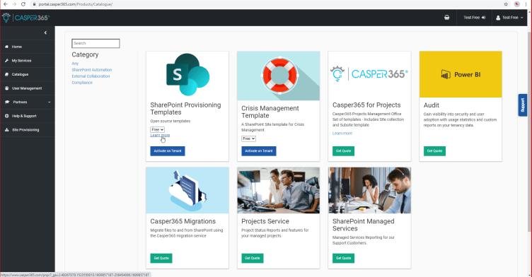 Free SharePoint Onlnie provisioning templates