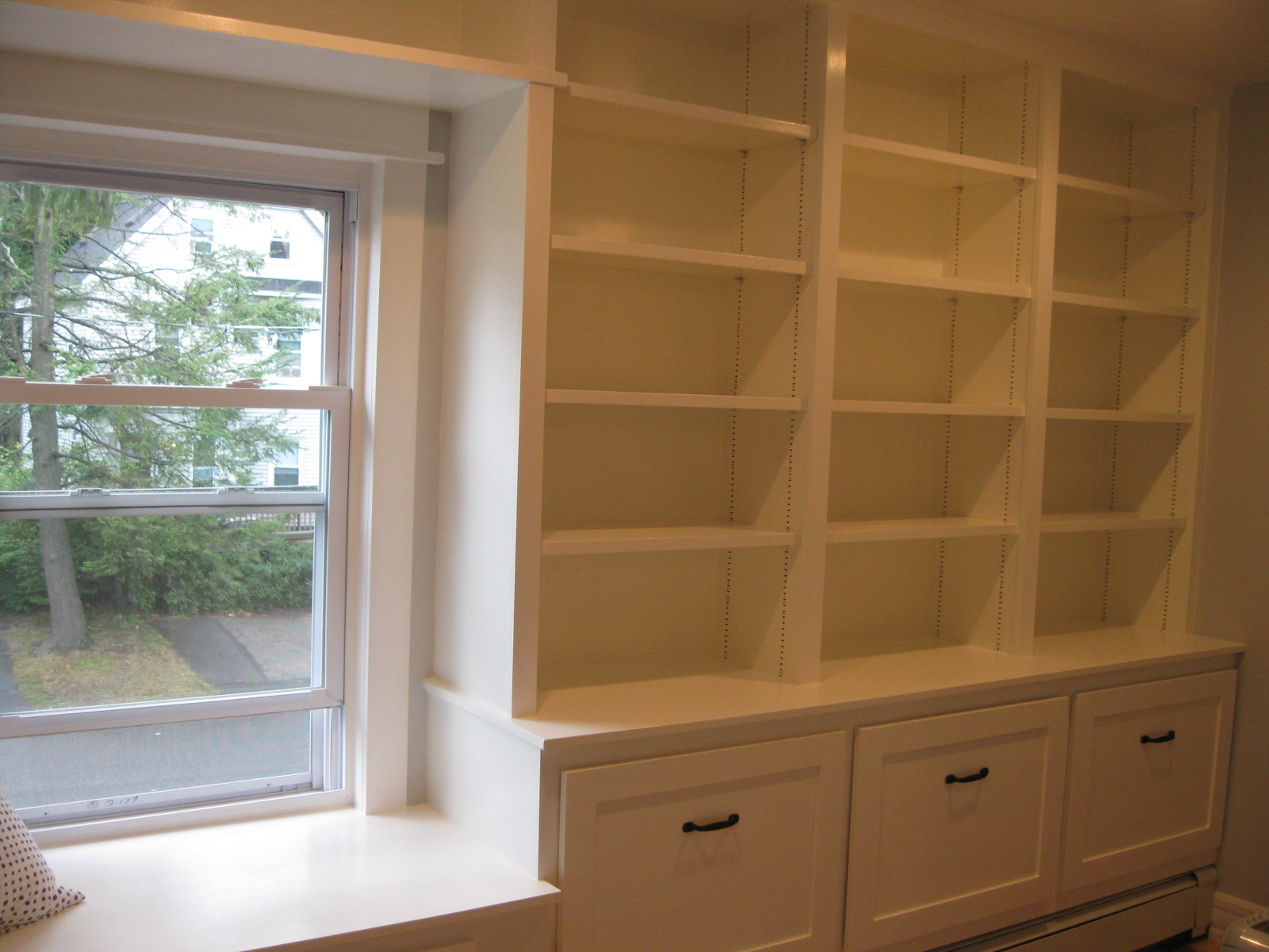 Custom Bookcase and Window Seat BuiltIn  Casper and Company