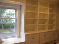 Custom Bookcase and Window Seat Built-In | Casper and Company