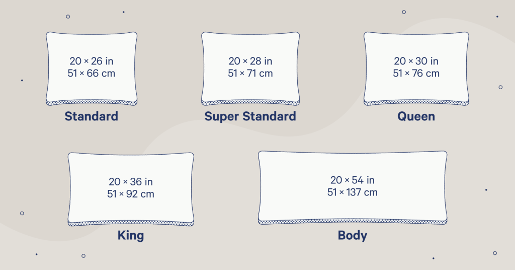 pillow sizes a guide for every type of