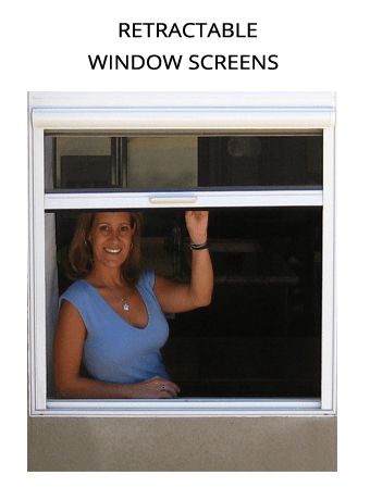 Casper Disappearing Screens double hung casement window retractable screen