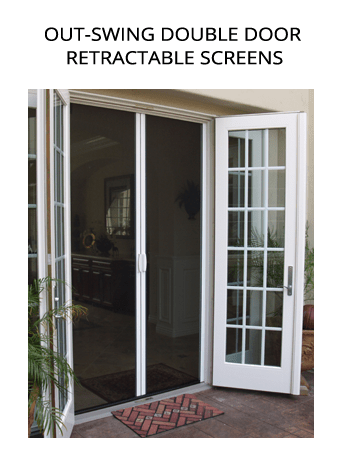 Double swinging window for Home hardware french doors