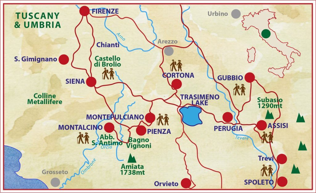 tuscany-umbria-walking-tour-caspin-journey-map