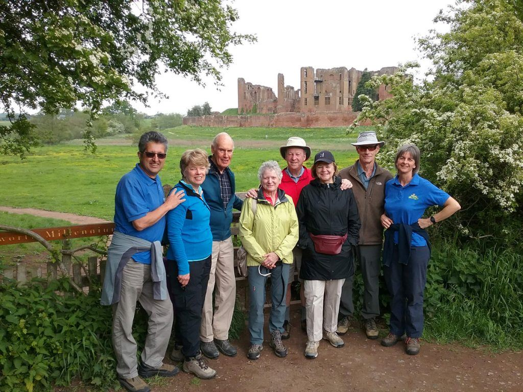 Group of travellers in Cotswolds England with Caspin Journeys