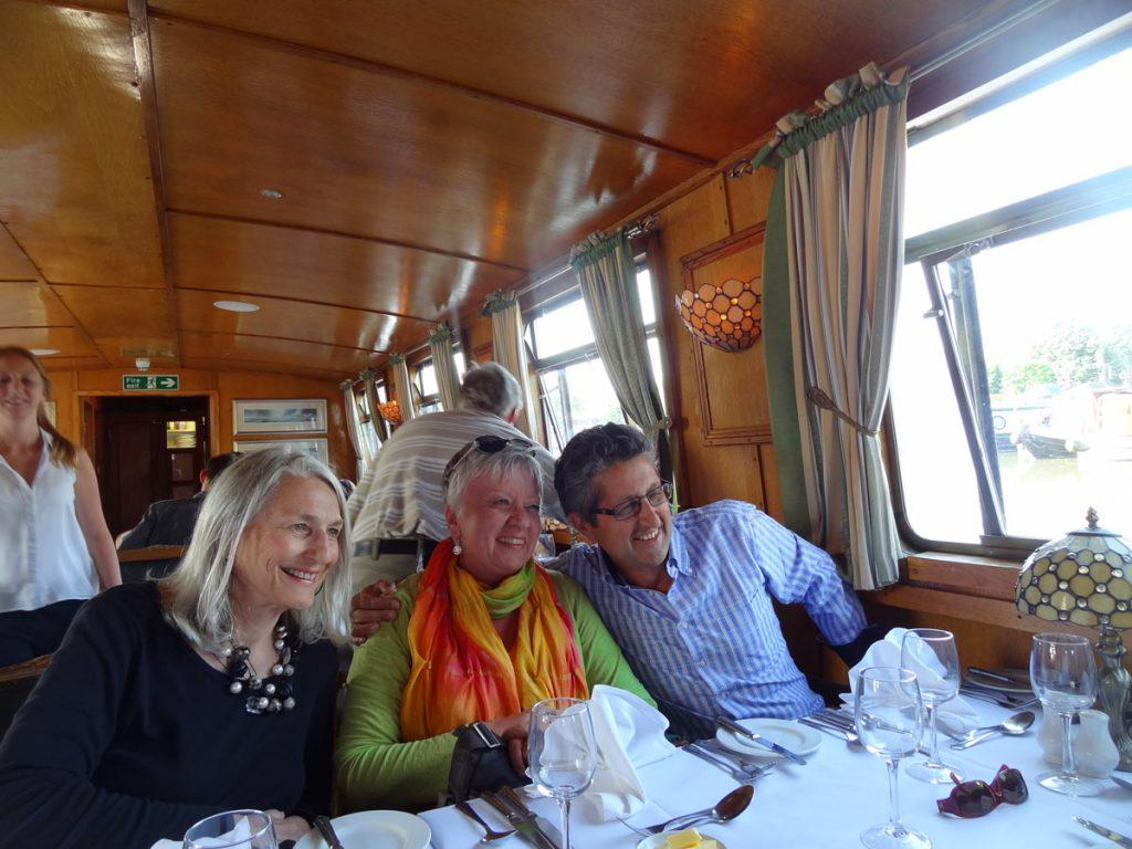 Cotswolds Luxury Barge Restaurant Eating Onboard Caspin Journeys