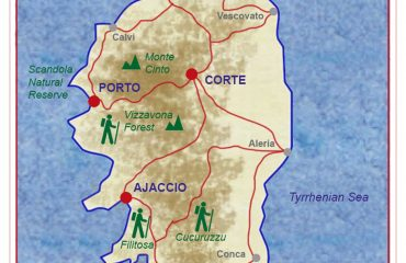 Corsica Grand Tour itinerary map