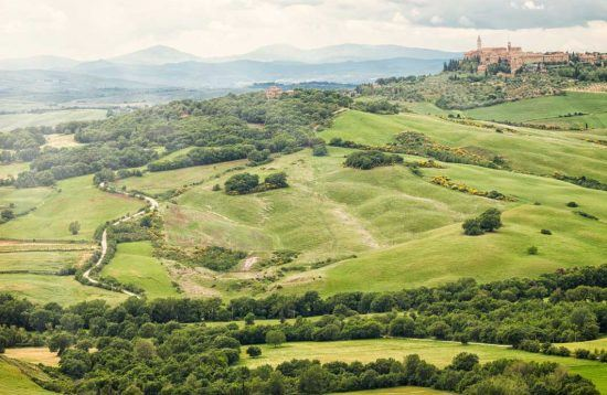 pienza with its rolling hills