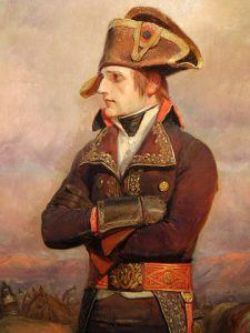 painting of the young general Napoleon Bonaparte