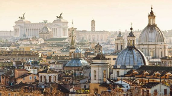 Beautiful view of Rome city centre