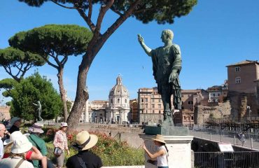 Walking through the Fori Imperiali