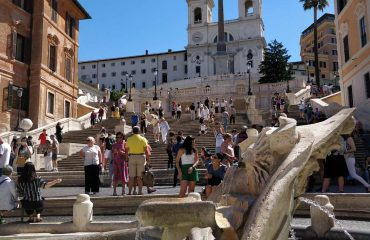 Spanish Step and Barcaccia Fountain