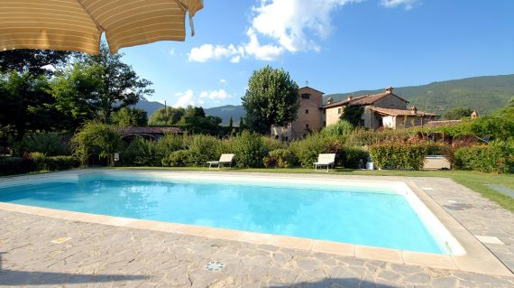 Molino di Bordone Pool Cortona Tuscany Luxury farm House Villa Rental swimming pool