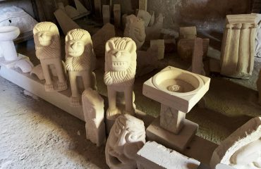 Limestone sculptures