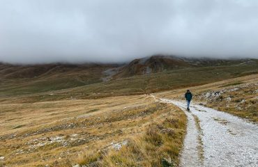 Walking through Campo Imperatore