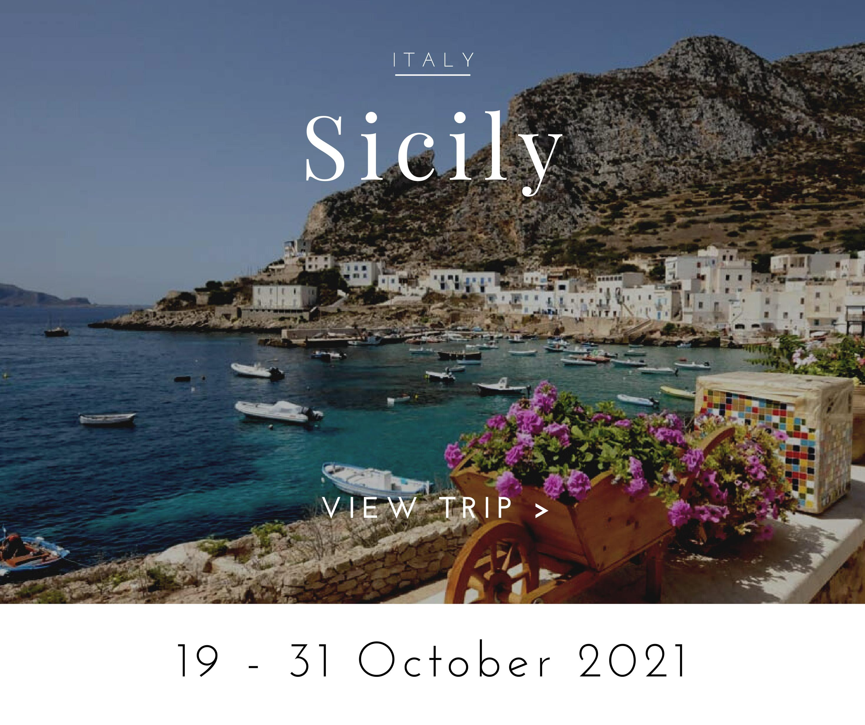 walking tour in sicily october 2021