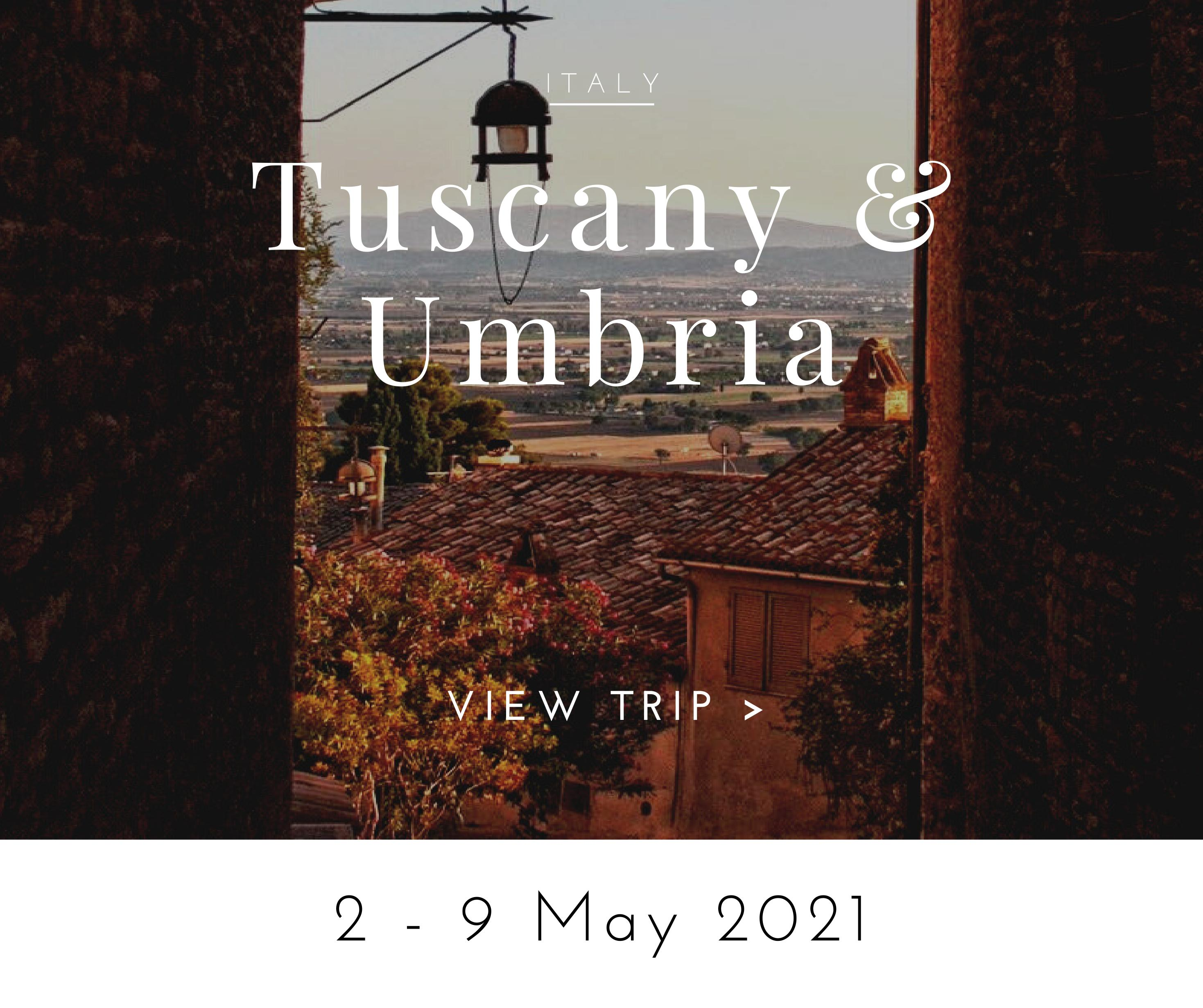 walking tour tuscany and umbria may 2021