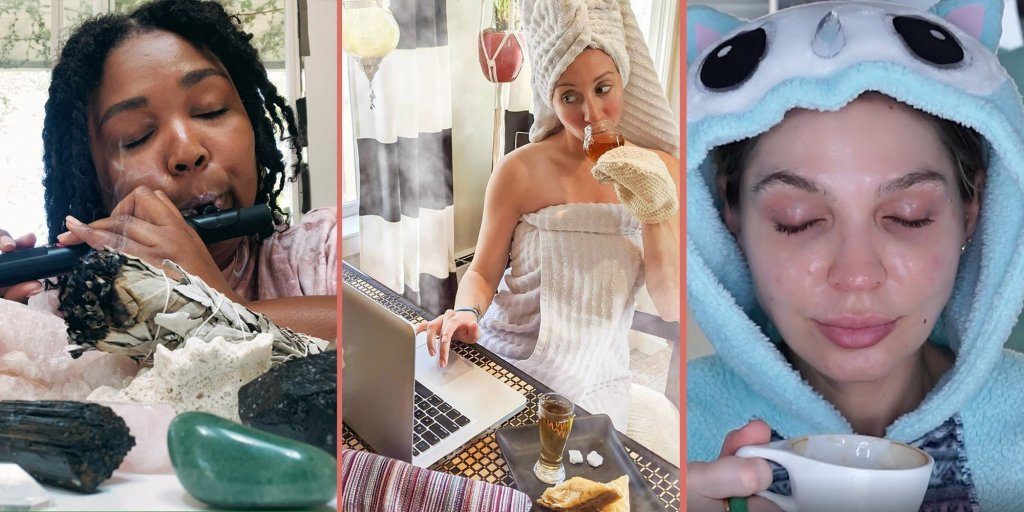 header image showing women from social media