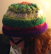 Finished Rainbow Hat