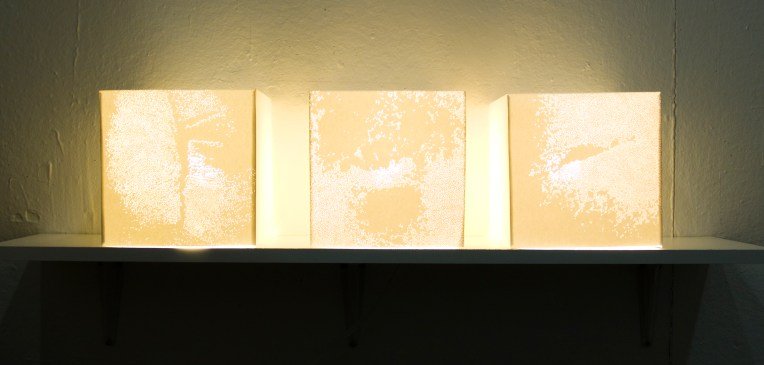 """Seive"" Pierced Paper and Light, 2010"