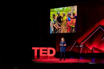 Laura Boykin speaks at TEDSummit: A Community Beyond Borders. July 21-25, 2019, Edinburgh, Scotland. Photo: Ryan Lash / TED