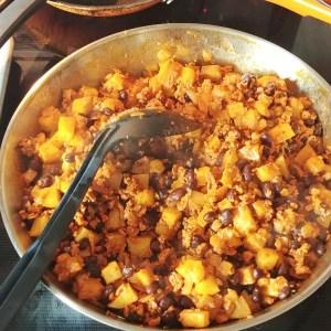 Vegan 'Chorizo' Sweet Potato and Black Bean Tacos