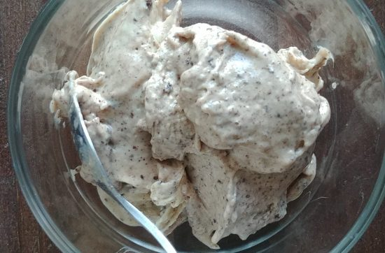 bowl ofvegan chunky monkey banana nice cream