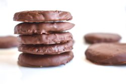 Stack of Easy Vegan Thin Mints, Gluten-Free, Dairy Free