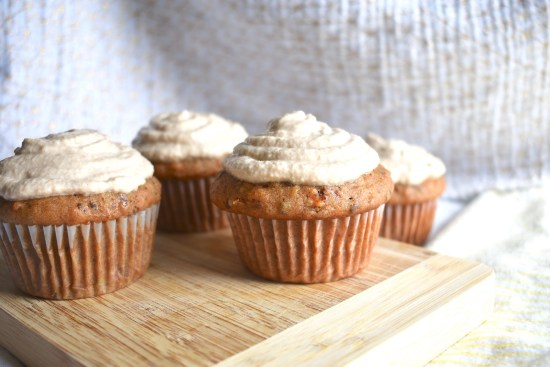 carrot cake cupcakes with cashew frosting