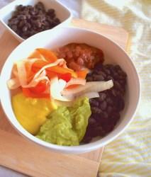 copycat vegan qdoba bean burrito bowl