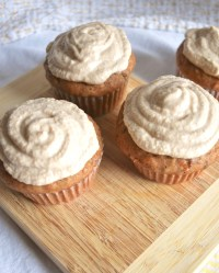 vegan carrot cake cupcakes and cashew cream frosting
