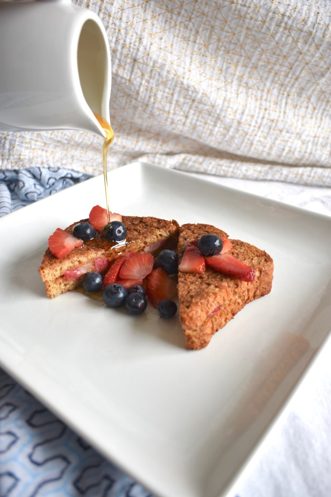 easy vegan strawberry stuffed french toast