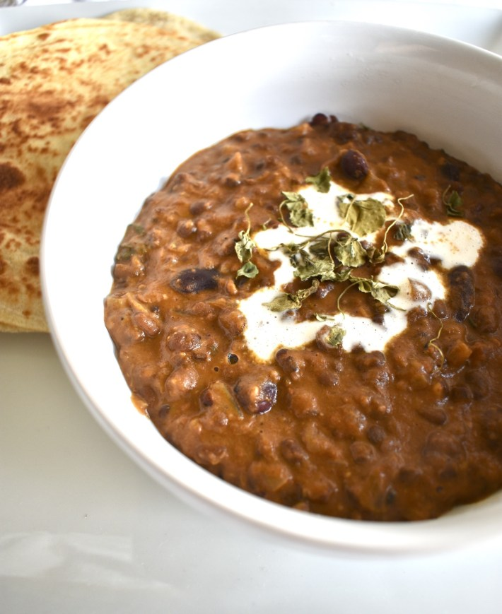 Vegan Instant Pot Dal Makhani Black Lentils
