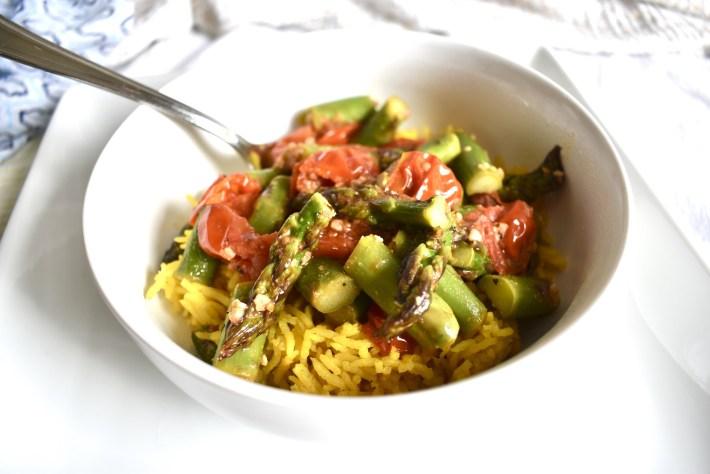 vegan garlic sauteed veggies bowl