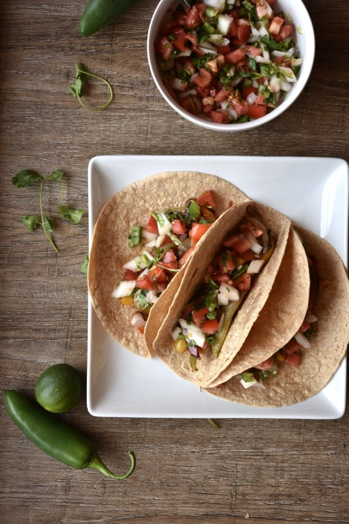 healthy vegetable fajita tacos 4 ingredient