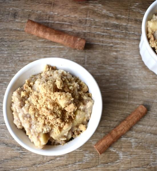 single serving apple pie oatmeal