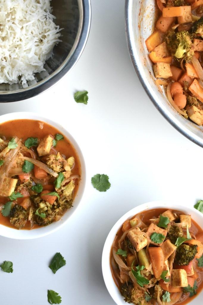tofu mixed veggie pangang curry