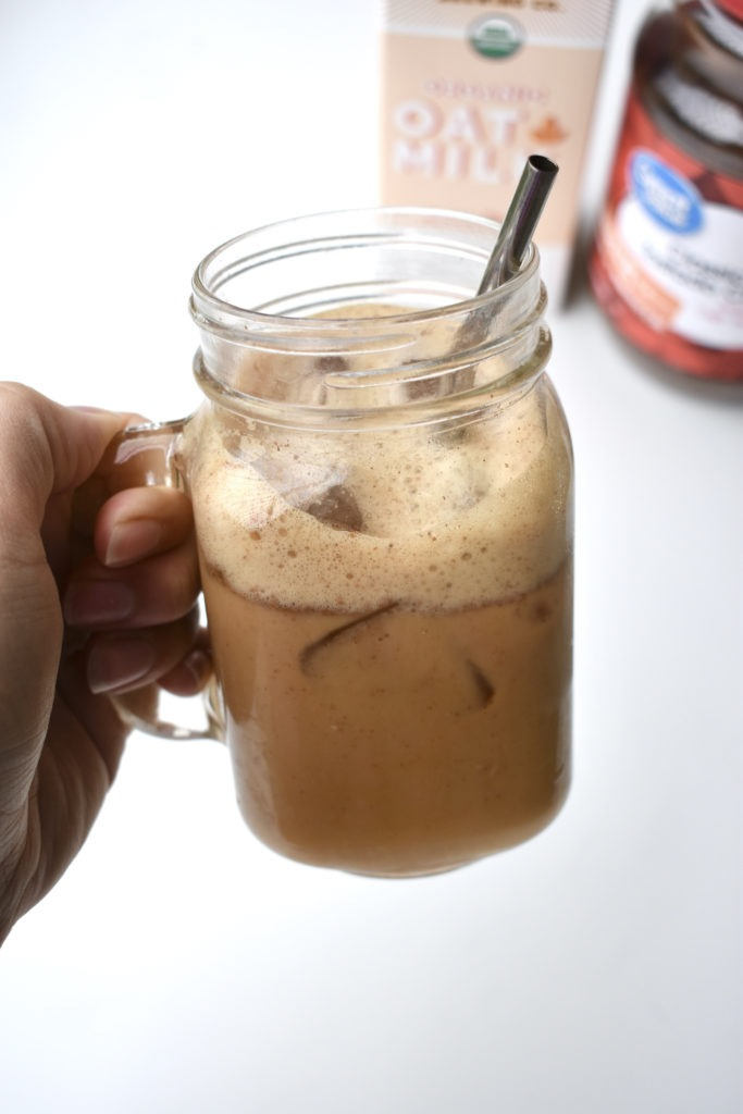 iced brown sugar oatmilk shaken espresso