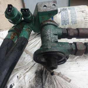 Support + sonde filtre à huile KAD43