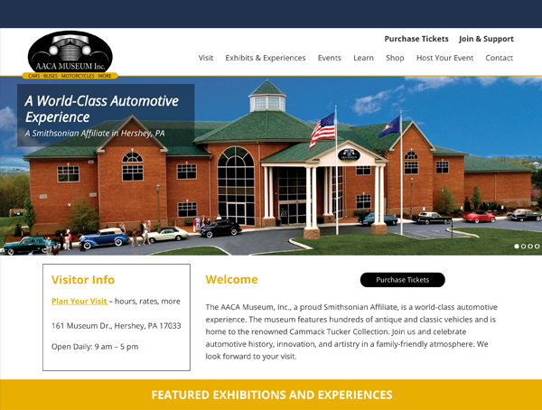 A virtual home for the AACA Museum, Inc. launched