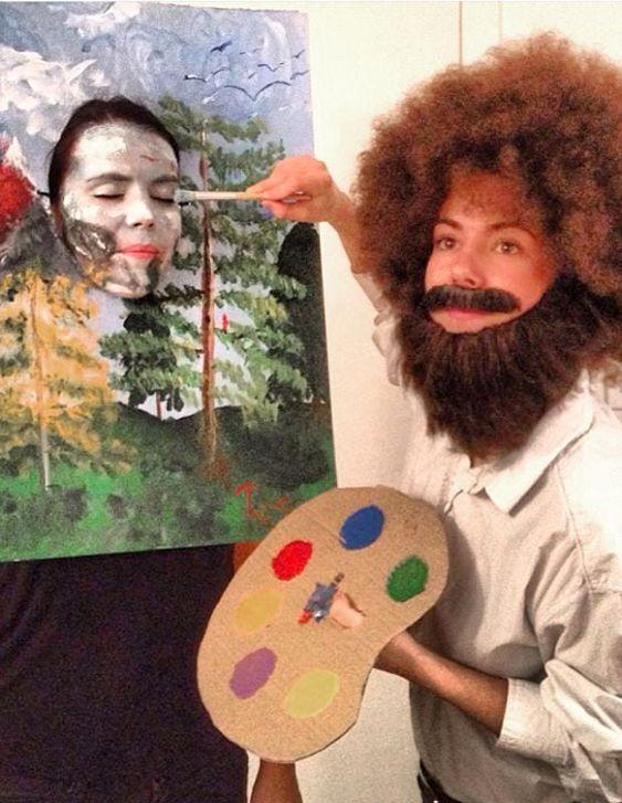 funny college halloween costumes Bob Ross