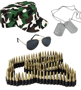 funny college halloween costumes army women