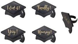 graduation party ideas graduation cap cupcake toppers