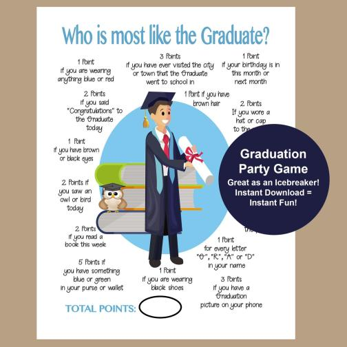 printables for a graduation party
