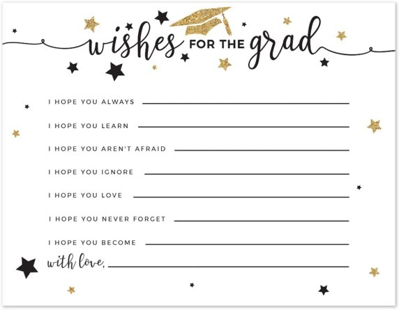 graduation cards wishes for the graduate
