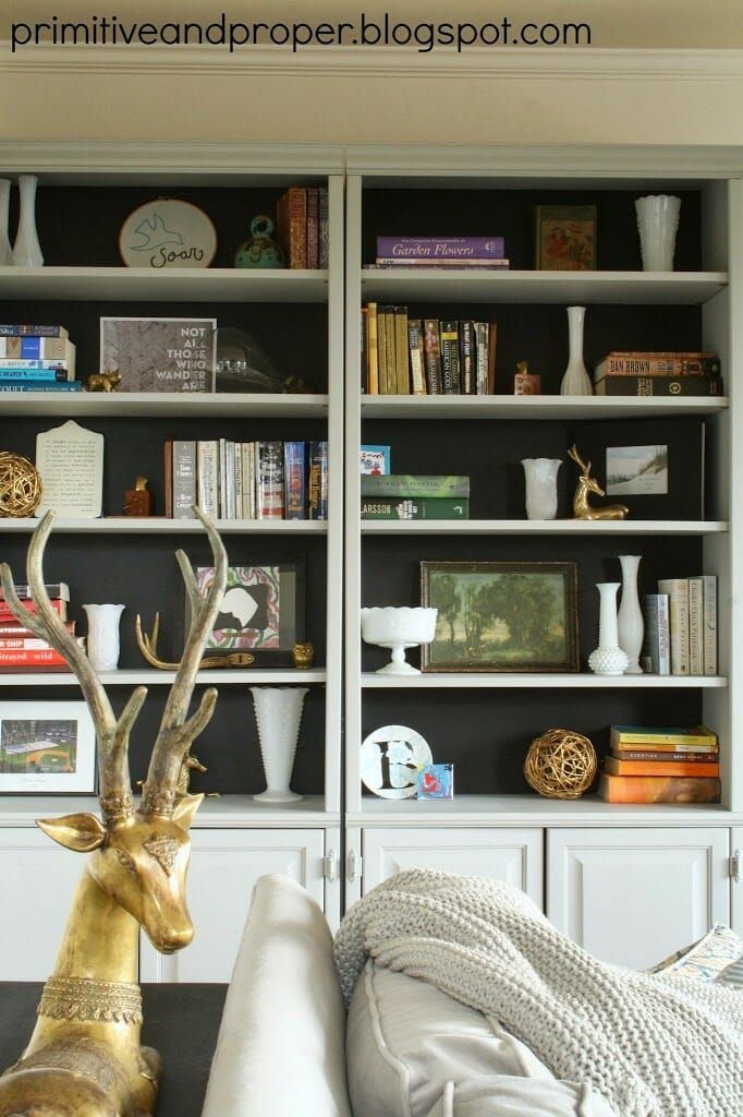 Living Room With Bookshelf: Black Backed Living Room Bookcases