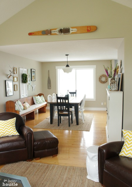 The Happy Housie Home Tour for Primitive and Proper living to dining room view