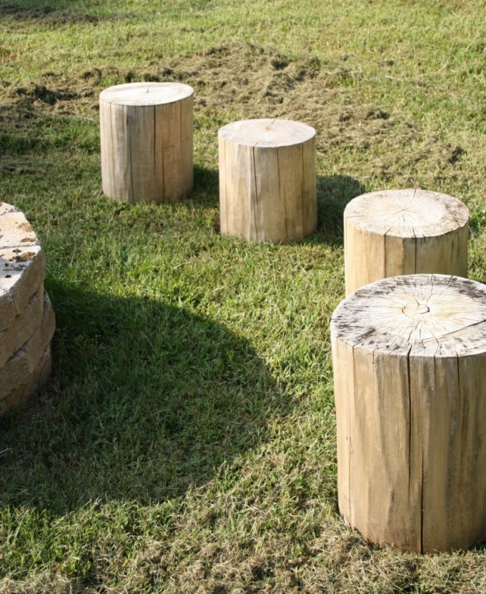 BSHT Fire Pit Stumps