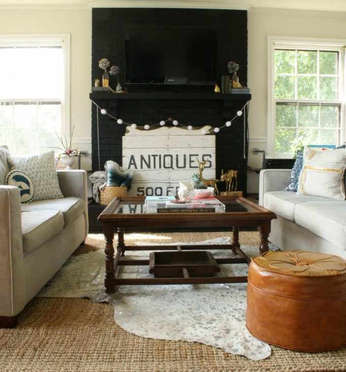 #EclecticallyFall Primitive & Proper Living Room