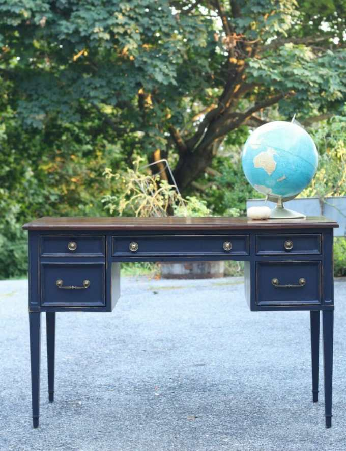 coastal blue desk with java gel top